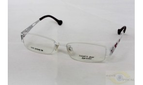 Sweet and Sour 2086 Semi-Rimless White Metal Frame