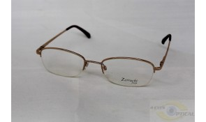Zarruchi Z41 Semi-Rimless Fashion Gold Metal Frame
