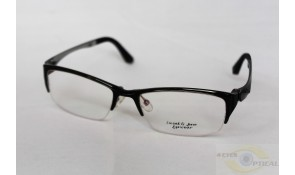 Sweet and Sour Ultem 6024 Semi-Rimless Black Acetate Plastic Frame
