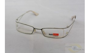 Mardako M7 White Black Semi-Rimless Metal Frame
