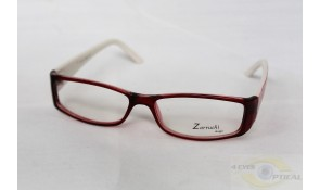 Zarruchi ZP74 Fashion Burgundy White Acetate Plastic Frame